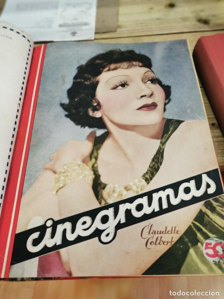 Cine: CINEGRAMAS, 1 TOMO CON 15 REVISTAS DE38/40 PÁGINAS, VER RELACION DE NUMEROS - Foto 8 - 280792628