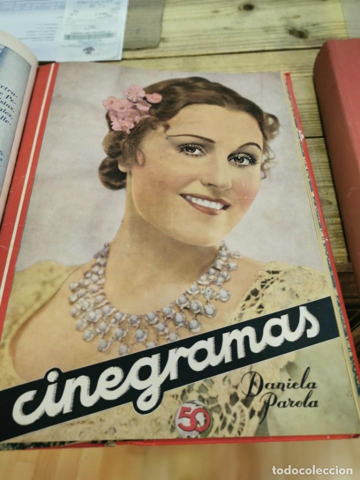 Cine: CINEGRAMAS, 1 TOMO CON 15 REVISTAS DE38/40 PÁGINAS, VER RELACION DE NUMEROS - Foto 16 - 280792628