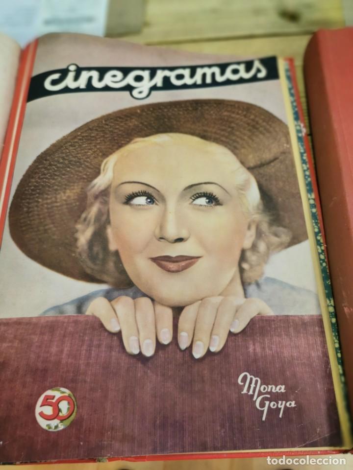 Cine: CINEGRAMAS, 1 TOMO CON 15 REVISTAS DE38/40 PÁGINAS, VER RELACION DE NUMEROS - Foto 17 - 280792628
