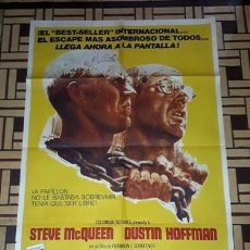 Cinema: PAPILLON AFICHE STEVE MCQUEEN DUSTIN HOFFMAN F16. Lote 282516033