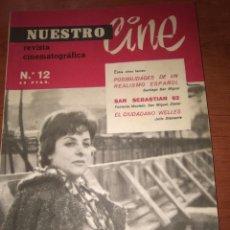 Cine: NUESTRO C I NE-REVISTA CINEMATOGRAFICA-N-12-JUNIO-JULIO 1962-REPORTAJE ORSON WELLES-FOTOS-...... Lote 282980528
