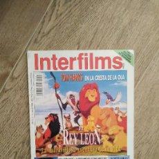 Cine: REVISTA INTERFILMS Nº 74 --- NOVIEMBRE 1994 -- EL REY LEON, TOM HANKS..... Lote 283217073
