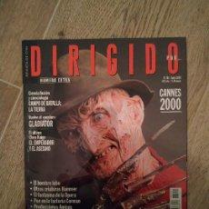 Cinema: DIRIGIDO POR Nº 291 (JUNIO 2000) --- ESPECIAL TERROR CON FREDDY KRUEGER (PESADILLA EN ELM STREET). Lote 283245738