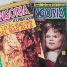 Cine: LOTE REVISTA FANGORIA NÚMEROS 1 Y 2. CINE TERROR, GORE. EDICIÓN ESPAÑOLA. 1ª EPOCA. ED. ZINCO. 1991.. Lote 283869708