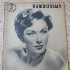 Cine: RADIOCINEMA REVISTA NÚMERO 261 JULIO 1956...ELEANOR PARKER / MARIO LANZA. Lote 284347988