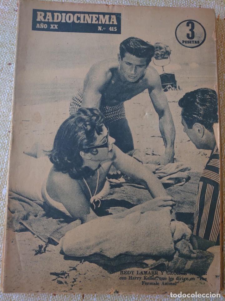 RADIOCINEMA REVISTA NÚMERO 415 JULIO 1958... HEDY LAMAR Y GEORGE NADER...MM (Cine - Revistas - Radiocinema)