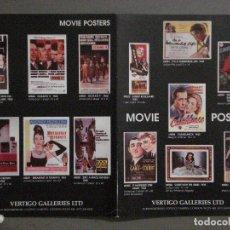 Cine: ABH56 CATALOGO POSTERS VERTIGO GALLERIES LTD MOVIE POSTERS. Lote 285454923