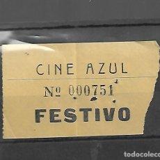 Cine: 1508- AÑOS 50. ENTRADA AL CINE AZUL FESTIVO DE MADRID. Lote 285764303