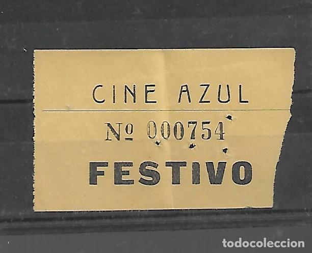 1508- AÑOS 50. ENTRADA AL CINE AZUL FESTIVO DE MADRID (Cine - Revistas - Otros)