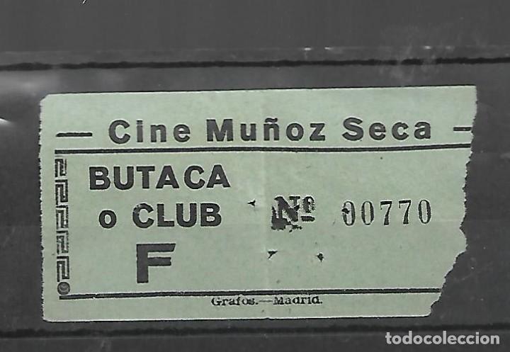 1508- AÑOS 50. ENTRADA AL CINE MUÑOZ SECA DE MADRID (Cine - Revistas - Otros)