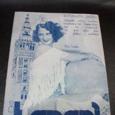 Cinema: ESTRELLITA CASTRO REVISTA TARARI - ANTOÑITA MERCÉ LA ARGENTINA ROSITA VALLES CINE TEATRO 1933 Nº 105. Lote 286939533