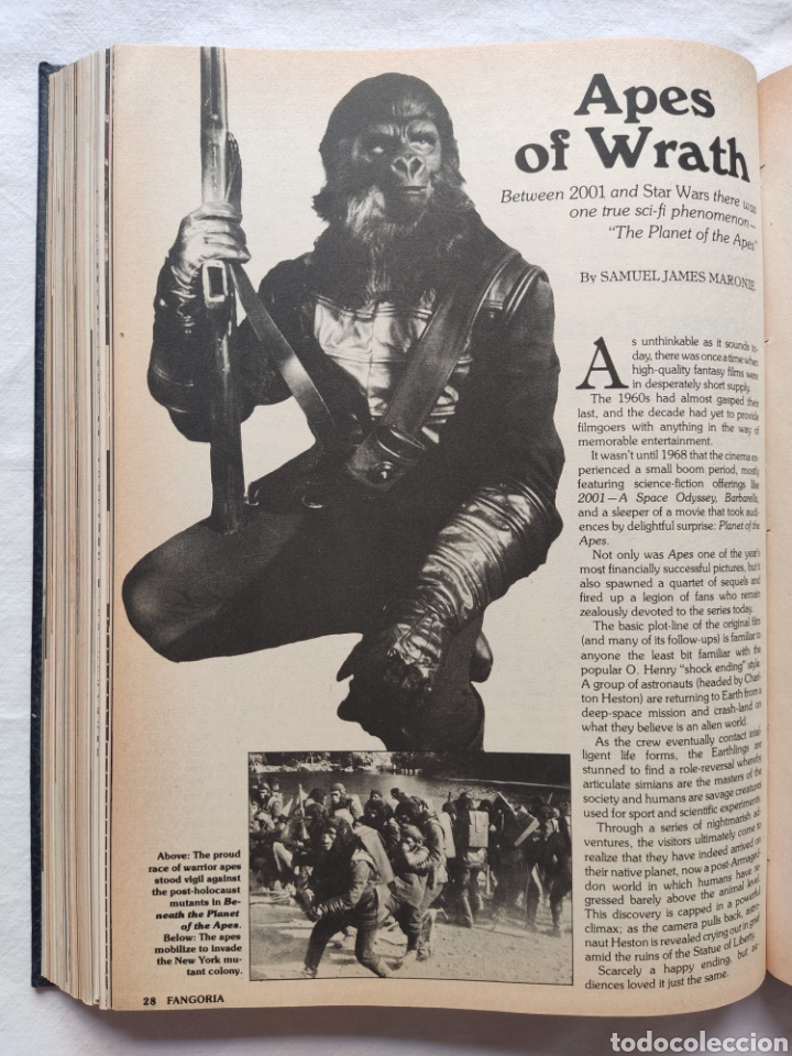 Cine: FANGORIA MAGAZINE STARLOG HORROR MONSTER ALIEN BIZARRE CREATURE ORIGINAL 1980 - Foto 48 - 287084468