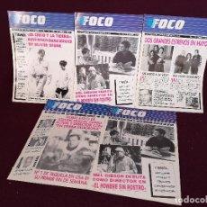 Cinema: LOTE DE 5 PUBLICACIONES DE CINE, FOCO, NOTICIAS DE WARNER BROSS, 1990´S, BARCELONA. Lote 287135508