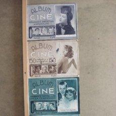 Cine: ABK06 LOTE 4 ALBUM CINE NÚMEROS 1-4 FOTOS DE LAS ESTRELLAS GARBO COOPER DIETRICH. Lote 287542823