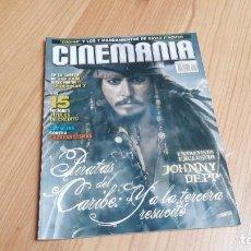 Cinéma: CINEMANÍA - Nº 140 - MAYO 2007 - JOHNNY DEEP, GREMLINS VS CAZAFANTASMAS, MARIBEL VERDÚ. Lote 287858558