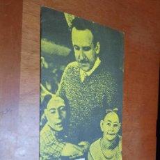 Cine: CINE. VANGUARDIAS DE LOS AÑOS 20 Y 30. CATÁLOGO DE MANO DE CICLO CINE MUDO. CINE-CLUB UNIVERSITARIO. Lote 287948613