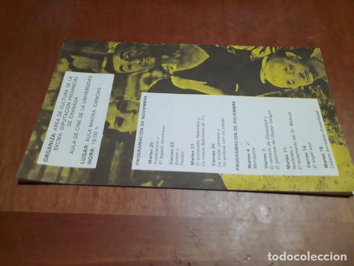 Cine: CINE. VANGUARDIAS DE LOS AÑOS 20 Y 30. CATÁLOGO DE MANO DE CICLO CINE MUDO. CINE-CLUB UNIVERSITARIO - Foto 2 - 287948613
