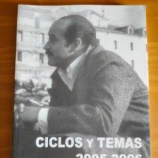 Cine: RAMÓN RUBIO. CICLOS Y TEMAS, 2005-2006.. Lote 287955363