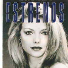 Cine: ESTRENOS. Nº 4. EL CINE QUE NOS VIENE. MICHELLE PFEIFFER. LA EDAD DE LA INOCENCIA. FEBRERO,1994(*). Lote 287972623