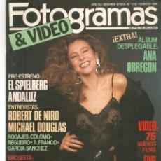 Cine: FOTOGRAMAS. Nº 1738. ALBUM DESPLEGABLE: ANA OBREGÓN. FEBRERO.1988.(B/42). Lote 287973013