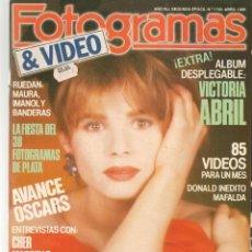 Cine: FOTOGRAMAS. Nº 1740. ALBUM DESPLEGABLE: VICTORIA ABRIL. ABRIL, 1988.(B/42). Lote 287973373