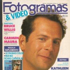 Cine: FOTOGRAMAS. Nº 1742. ALBUM DESPLEGABLE: KATHELEEN TURNER. JUNIO, 1988.(B/42). Lote 288045698