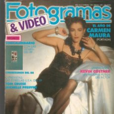 Cine: FOTOGRAMAS. Nº 1748. CARMEN MAURA. DESPLEGABLE: KEVIN COSTNER. ENERO, 1989.(B/42). Lote 288046533