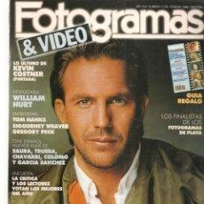 Cine: FOTOGRAMAS. Nº 1749. FRANCISCO RABAL. DESPLEGABLE: WILLIAM HURT. FEBRERO, 1989.(B/42). Lote 288047078