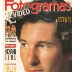 Cine: FOTOGRAMAS. Nº 1764. ASSUMPTA SERNA. DESPLEGABLE: RICHARD GERE. JUNIO, 1990.(B/42). Lote 288051198