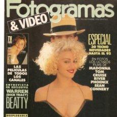 Cine: FOTOGRAMAS. Nº 1766. MADONNA. DESPLEGABLE: BRUCE WILLIS. SEPTIEMBRE, 1990.(B/42). Lote 288051713