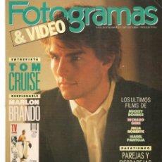 Cine: FOTOGRAMAS. Nº 1767. TOM CRUISE. DESPLEGABLE: MARLON BRANDO. OCTUBRE, 1990.(B/42). Lote 288052173