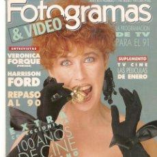 Cine: FOTOGRAMAS. Nº 1770. SUPLEMENTO TV / CINE. 100 AÑOS CINE AMERICANO. VERÓNICA FORQUÉ.1/1/ 1991(B/42). Lote 288052863