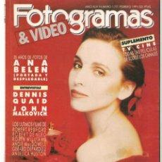 Cine: FOTOGRAMAS. Nº 1771. DESPLEGABLE: ANA BELEN. NICOLE KIDMAN. SUPLEMENTO TV. FEBRERO 1991(B/42). Lote 288053493