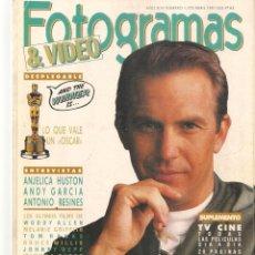 Cine: FOTOGRAMAS. Nº 1773. EL AÑO DE KEVIN COSTNER. DESPLEGABLE: SUPLEMENTO TV. ABRIL, 1991(B/42). Lote 288058413