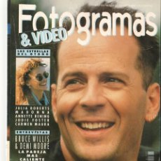 Cine: FOTOGRAMAS. Nº 1777. JULIA ROBERTS / MADONNA / BRUCE WILLIS. CON SUPLEMENTO. SEPTIEMBRE 1991(B/42). Lote 288060233