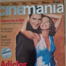 Cine: CINEMANIA N° 40 ENERO 1999 (CONTIENE CARTEL EL DIA DE LA BESTIA, NO TIENE EL ESPECIAL CINE 1999). Lote 288189478