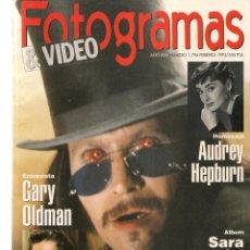 Cine: FOTOGRAMAS. Nº 1794. AUDREY HEPBURN / SARA MONTIEL / CONTIENE SUPLEMENTO. FEBRERO, 1993.(B/42). Lote 288305963