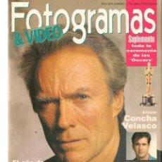 Cine: FOTOGRAMAS. Nº 1796. ALBUM: CONCHA VELASCO / CLINT EASTWOOD. ABRIL, 1993.(B/42). Lote 288314013
