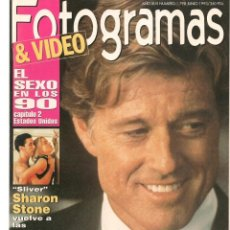 Cine: FOTOGRAMAS. Nº 1798. EL SEXO EN LOS 90 / SHARON STONE/ SOPHIA LOREN. JUNIO,1993.(B/42). Lote 288315343