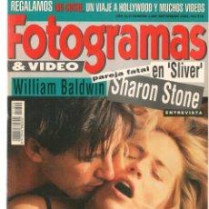 Cine: FOTOGRAMAS. Nº 1800. WILLIAM BALDWIN / SHARON STONE / ARNOLD SCHWARZENEGGER. SEPBRE. 1993.(B/42). Lote 288316483