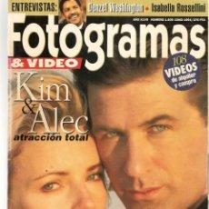 Cine: FOTOGRAMAS. Nº 1809. LIDIA BOSCH / KIM BASINGER / ALEC BALDWIN. JUNIO, 1994.(B/42). Lote 288317578