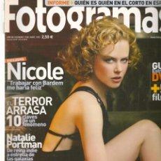 Cine: FOTOGRAMAS. Nº 1939. NICOLE KIDMAN / FORZUDOS DEL CINE. ABRIL,2005.(B/42). Lote 288324483