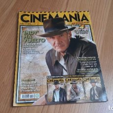 Cine: CINEMANÍA - Nº 152 MAYO 2008 - INDIANA JONES, BRIGITTE BARDOT, STAR WARS, GEORGE LUCAS, JOHN FORD. Lote 288462893