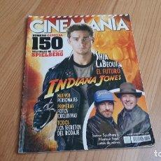 Cine: CINEMANÍA - Nº 150 MARZO 2008 - INDIANA JONES, ESPECIAL STEVEN SPIERBERG, JAMES DEAN, MARIBEL VERDÚ. Lote 288464448