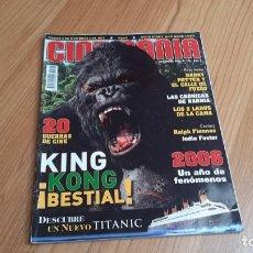 Cine: CINEMANÍA - Nº 123 DICIEMBRE 2005 - KING KONG, HARRY POTTER, GUILLERMO TOLEDO, CRÓNICAS DE NARNIA. Lote 288465503