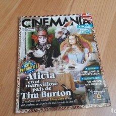 Cine: CINEMANÍA - Nº 175 ABRIL 2010 - ALICIA EN EL PAIS ..., TIM BURTON, JULIÁN LÓPEZ, CINE FANTÁSTICO. Lote 288484208