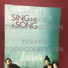 Cine: PROGRAMA PELICULA SING ME A SONG EN SU EXHIBICION EN EL EYE FILMMUSEUM DE AMSTERDAM. Lote 289363553