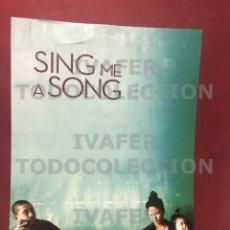 Cine: PROGRAMA PELICULA SING ME A SONG EN SU EXHIBICION EN EL EYE FILMMUSEUM DE AMSTERDAM. Lote 289363718