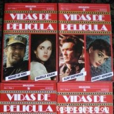 Cine: DE NIRO-ISABELLE ADJANI-NEWMAN-MADONNA-AUDREY HEPBURN-EASTWOOD VIDAS DE PELÍCULA 3 TOMOS NUEVO 1986. Lote 289456448