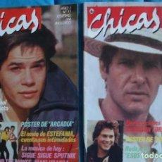 Cine: REVISTA CHICAS DE BRUGUERA, Nº 11-JORGE SANZ-EURYTMICS- Nº 12 HARRISO FORD-QUEEN-DURAN-DURAN. Lote 289456878